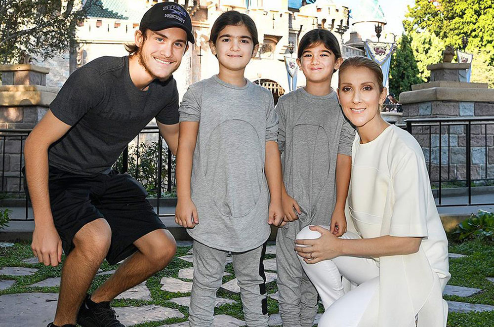 Celine Dion With Her Sons